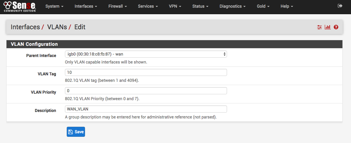 Create VLAN interface