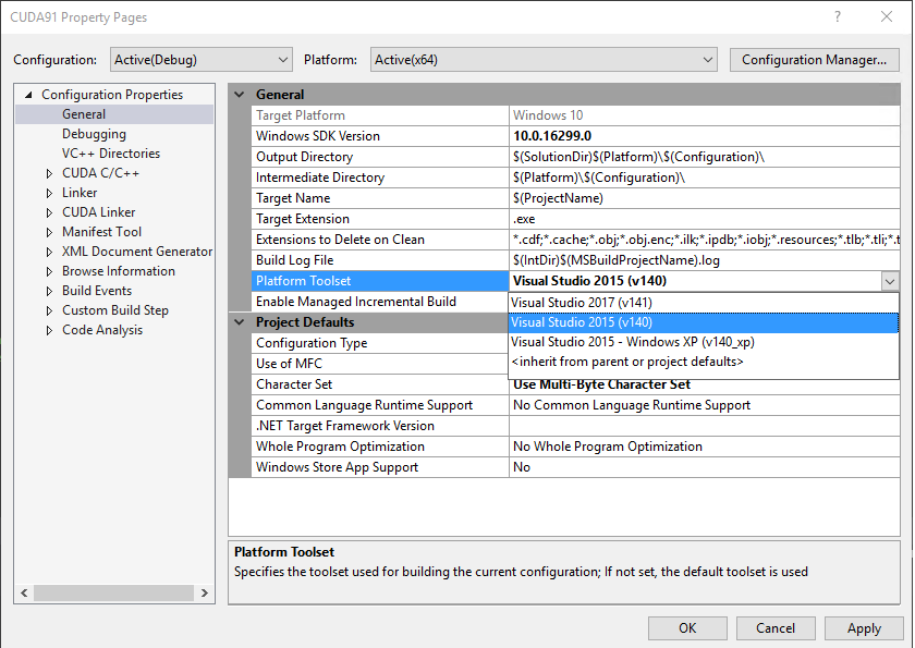 Integrating CUDA with Visual Studio 2017 – Codestrian